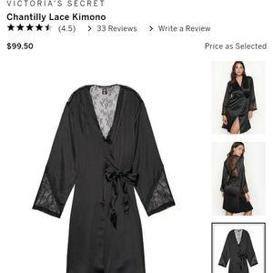 VS Chantilly Black Lace Kimono